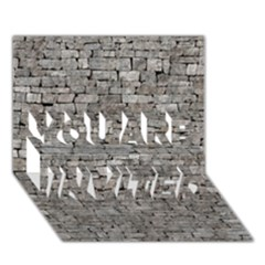 STONE WALL GREY YOU ARE INVITED 3D Greeting Card (7x5)