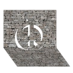 STONE WALL GREY Peace Sign 3D Greeting Card (7x5)