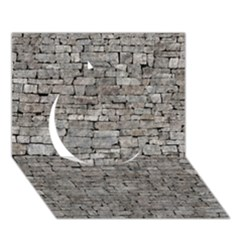 STONE WALL GREY Circle 3D Greeting Card (7x5)