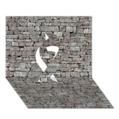 Stone Wall Grey Ribbon 3d Greeting Card (7x5)