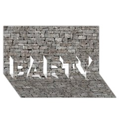 Stone Wall Grey Party 3d Greeting Card (8x4)