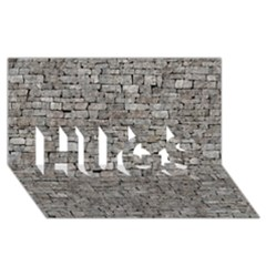 STONE WALL GREY HUGS 3D Greeting Card (8x4)