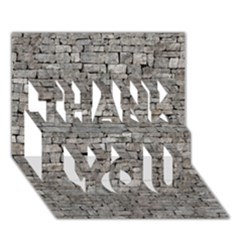 Stone Wall Grey Thank You 3d Greeting Card (7x5)
