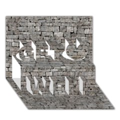Stone Wall Grey Get Well 3d Greeting Card (7x5)