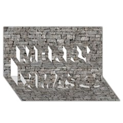STONE WALL GREY Merry Xmas 3D Greeting Card (8x4)