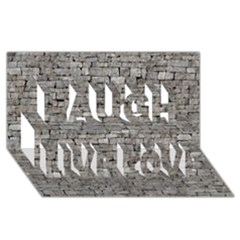 Stone Wall Grey Laugh Live Love 3d Greeting Card (8x4)