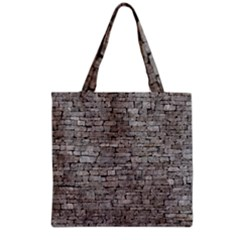 STONE WALL GREY Grocery Tote Bags