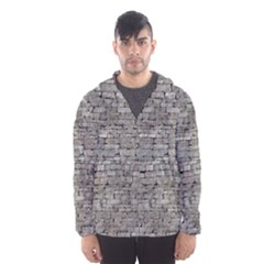 Stone Wall Grey Hooded Wind Breaker (men)