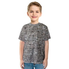 STONE WALL GREY Kid s Sport Mesh Tees