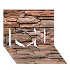 STONE WALL BROWN I Love You 3D Greeting Card (7x5)