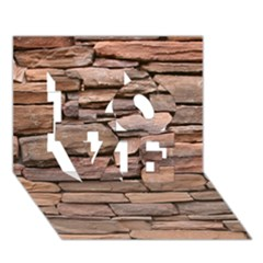 STONE WALL BROWN LOVE 3D Greeting Card (7x5)