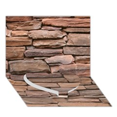 STONE WALL BROWN Heart Bottom 3D Greeting Card (7x5)