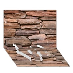 STONE WALL BROWN LOVE Bottom 3D Greeting Card (7x5)