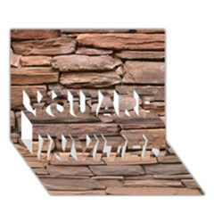 STONE WALL BROWN YOU ARE INVITED 3D Greeting Card (7x5)