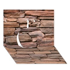 STONE WALL BROWN Apple 3D Greeting Card (7x5)