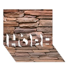 STONE WALL BROWN HOPE 3D Greeting Card (7x5)