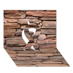 STONE WALL BROWN Ribbon 3D Greeting Card (7x5)