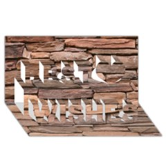 STONE WALL BROWN Best Wish 3D Greeting Card (8x4)