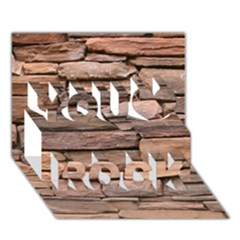 Stone Wall Brown You Rock 3d Greeting Card (7x5)