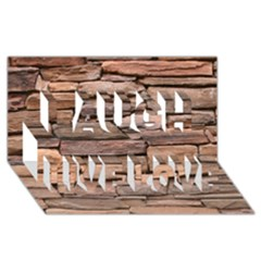 STONE WALL BROWN Laugh Live Love 3D Greeting Card (8x4)
