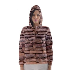 Stone Wall Brown Hooded Wind Breaker (women)