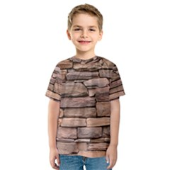 STONE WALL BROWN Kid s Sport Mesh Tees