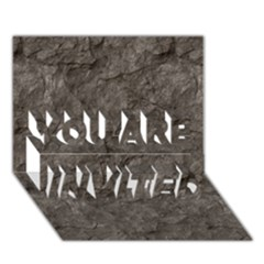 STONE YOU ARE INVITED 3D Greeting Card (7x5)