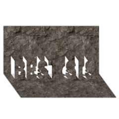 Stone Best Sis 3d Greeting Card (8x4)
