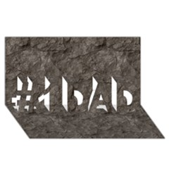 STONE #1 DAD 3D Greeting Card (8x4)
