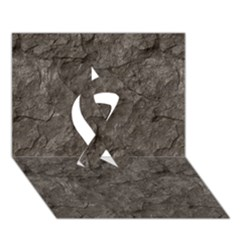 STONE Ribbon 3D Greeting Card (7x5)