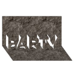 STONE PARTY 3D Greeting Card (8x4)
