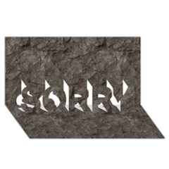 Stone Sorry 3d Greeting Card (8x4)