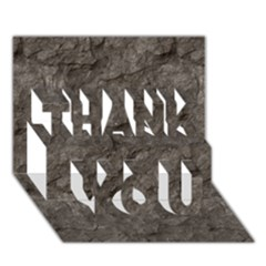 STONE THANK YOU 3D Greeting Card (7x5)