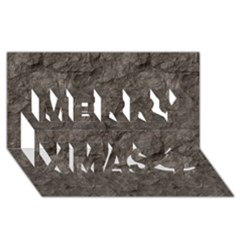 Stone Merry Xmas 3d Greeting Card (8x4)