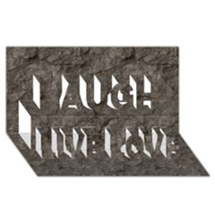 Stone Laugh Live Love 3d Greeting Card (8x4)