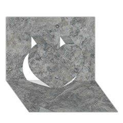 SILVER TRAVERTINE Heart 3D Greeting Card (7x5)