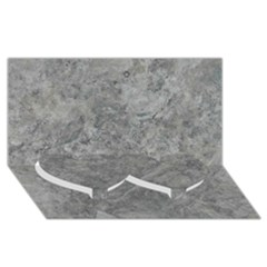 SILVER TRAVERTINE Twin Heart Bottom 3D Greeting Card (8x4)
