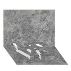 SILVER TRAVERTINE LOVE Bottom 3D Greeting Card (7x5)