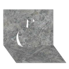 SILVER TRAVERTINE Apple 3D Greeting Card (7x5)
