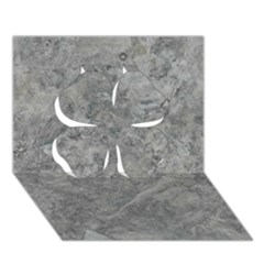 SILVER TRAVERTINE Clover 3D Greeting Card (7x5)