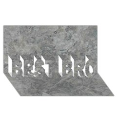 SILVER TRAVERTINE BEST BRO 3D Greeting Card (8x4)