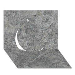 SILVER TRAVERTINE Circle 3D Greeting Card (7x5)