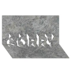 SILVER TRAVERTINE SORRY 3D Greeting Card (8x4)
