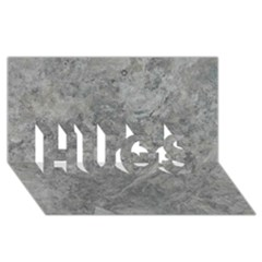 Silver Travertine Hugs 3d Greeting Card (8x4)