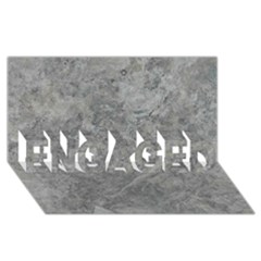 Silver Travertine Engaged 3d Greeting Card (8x4)