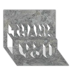 SILVER TRAVERTINE THANK YOU 3D Greeting Card (7x5)