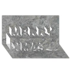 Silver Travertine Merry Xmas 3d Greeting Card (8x4)