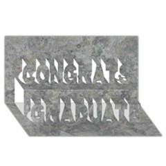Silver Travertine Congrats Graduate 3d Greeting Card (8x4)