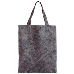 Silver Travertine Zipper Classic Tote Bags