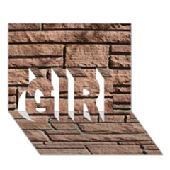 SANDSTONE BRICK GIRL 3D Greeting Card (7x5)